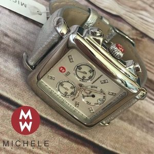 Michele Deco XL Chrono Diamond Watch